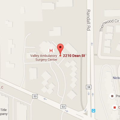Valley Ambulatory Surgery Center Map